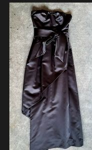 1980s vintage Don Elliot strapless satin dress